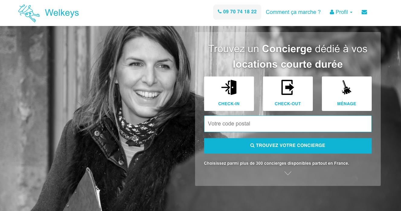 welkeys.com, la première plateforme de mise en relation directe entre propriétaires et concierges dédiés à la location courte durée.