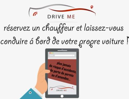 Driveme .fr : un chauffeur privé pour conduire votre voiture á votre place á la demande