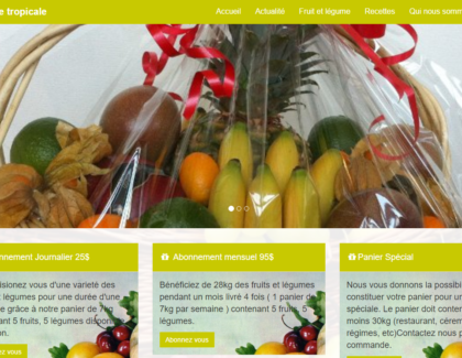 Surprise Tropicale serves as a bridge between local farmers and consumers by offering an online market of fruits and vegetables