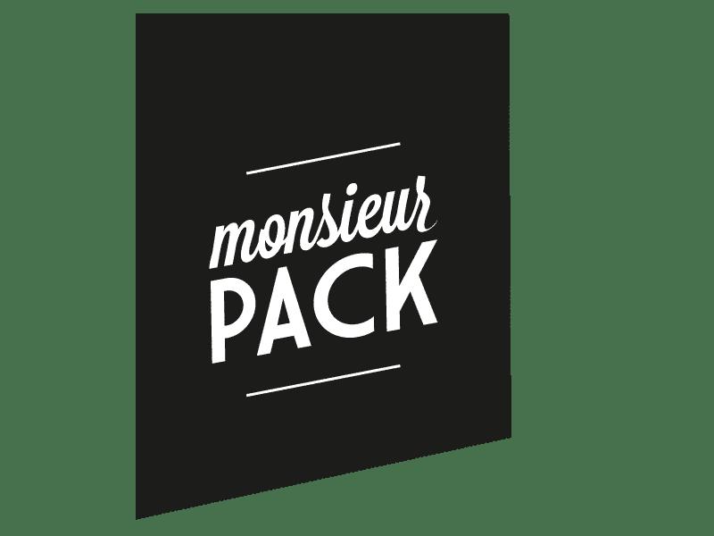 Monsieur Pack Logo trapèze noir