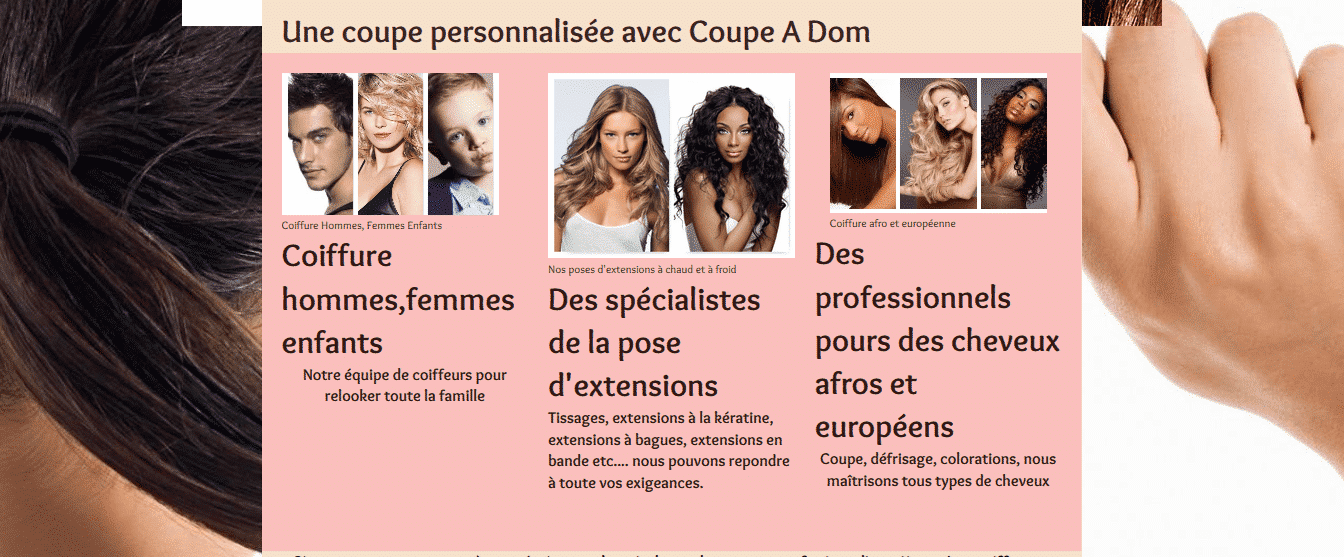 coupe a dom