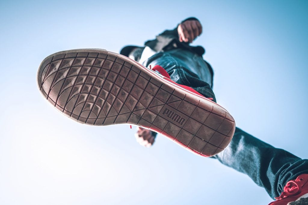 person wearing puma shoe 2016145 scaled