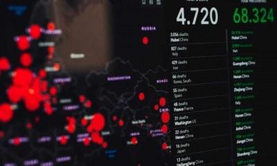 coronavirus statistics on screen 3970330