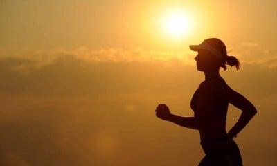 woman girl silhouette jogger 40751