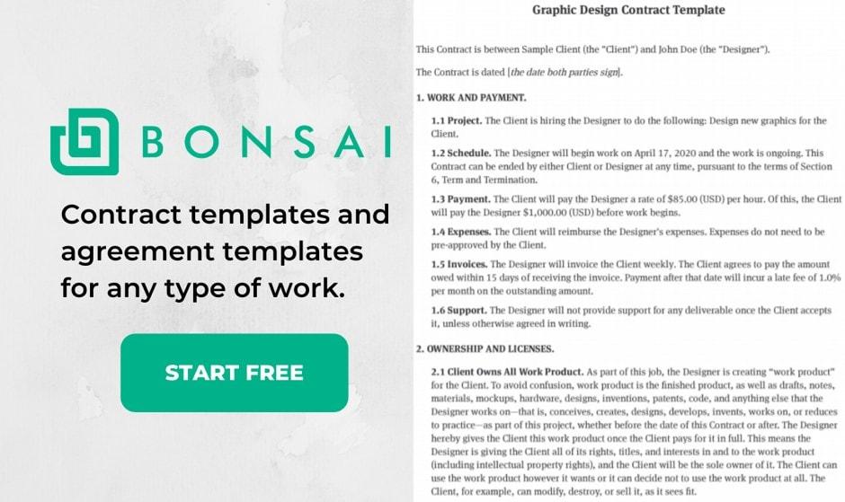 bonsai contract templates