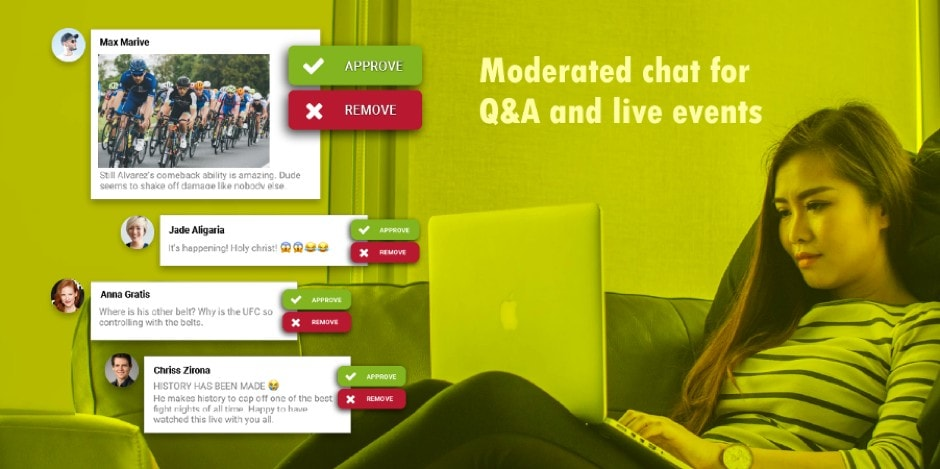moderated group chat for live qa and web events
