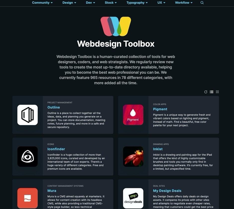 webdesign toolbox