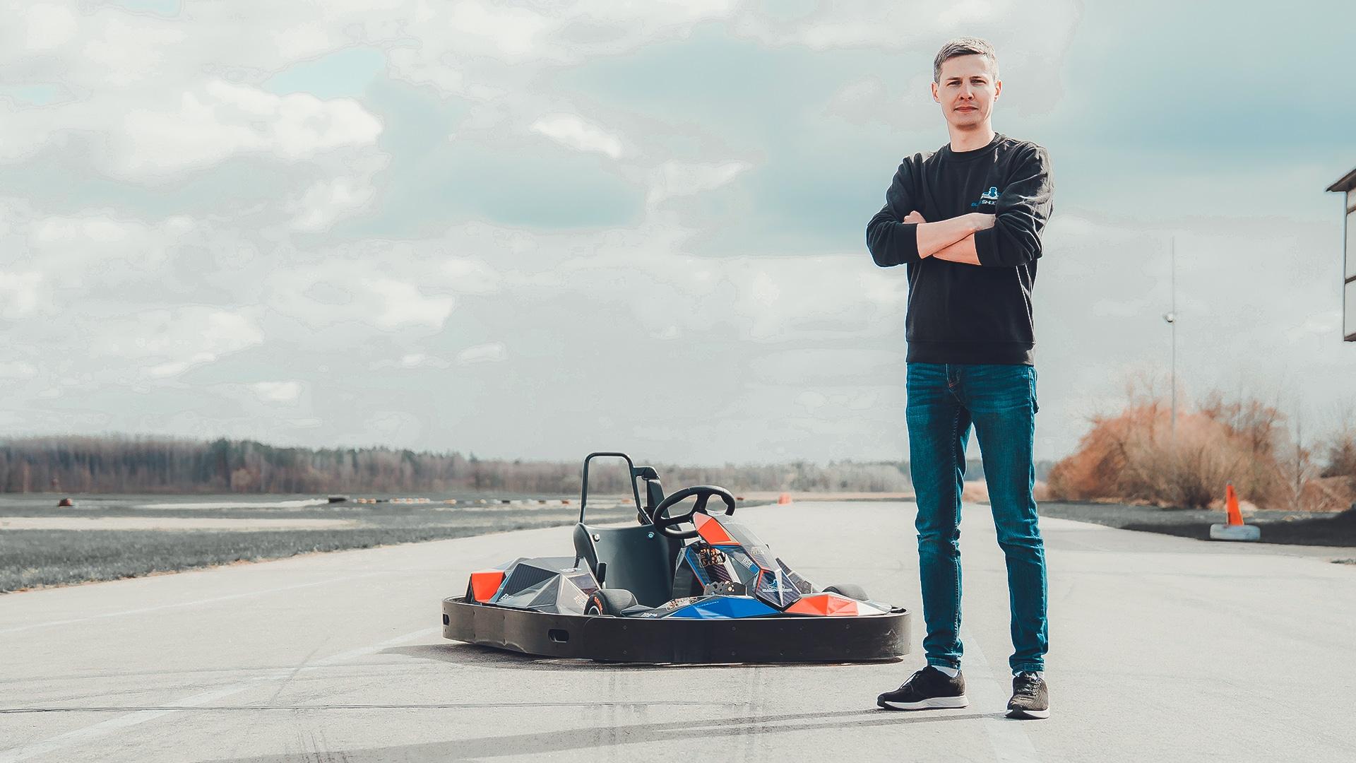 Artis Daugins Blue Shock Race