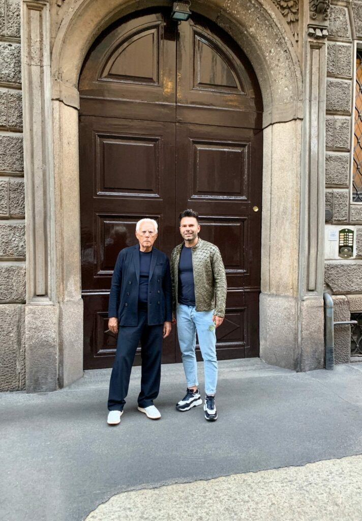 Emanuele Briganti and Giorgio Armani