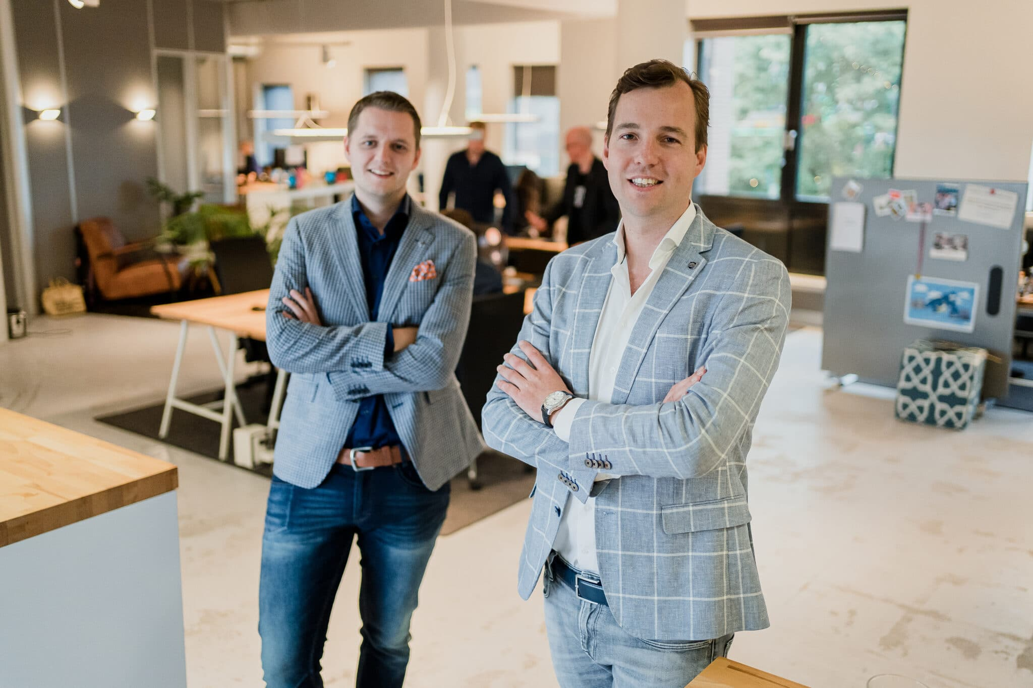 Bram ten Hove CTO and Taco Potze CEO at the Enschede office 1 scaled