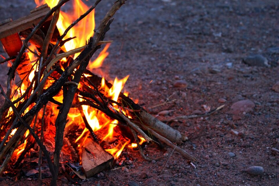 Religious bonfire